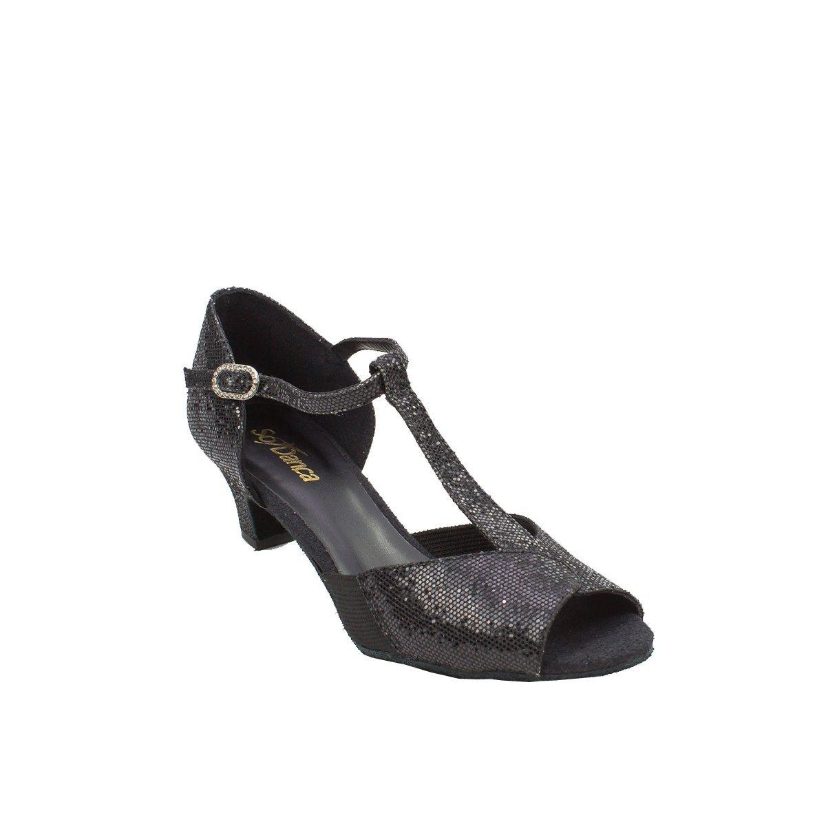 Sodanca Bl-33 Adult Roxanne T-strap Ballroom Shoe