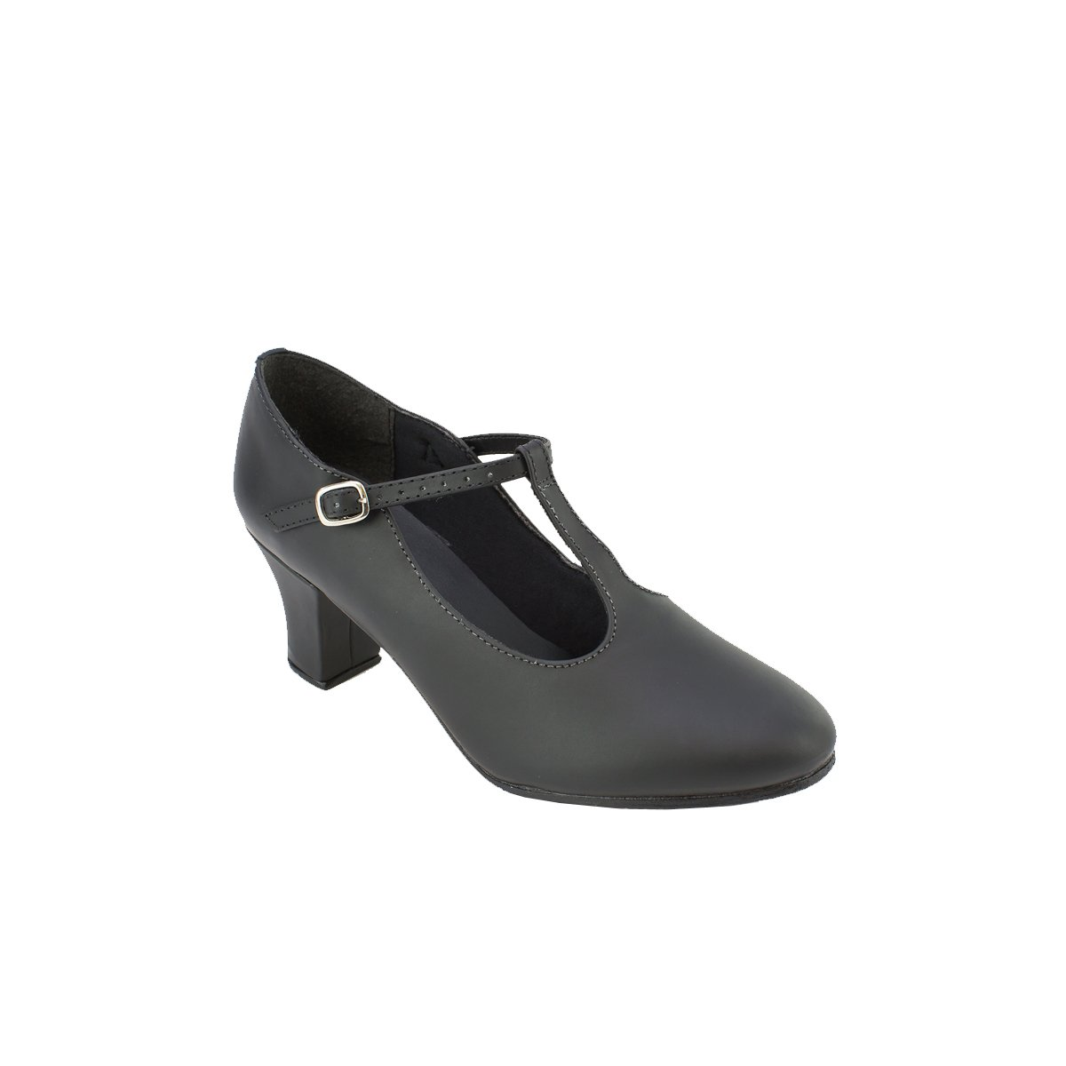 Sodanca Ch-54 Christa 2 Heel All Leather T - Strap Character Shoe
