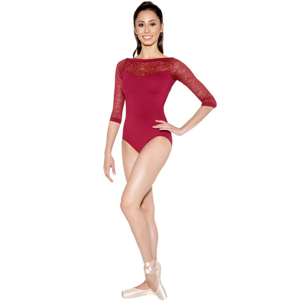 Sodanca  Stunning 3/4 Sleeve Leotard