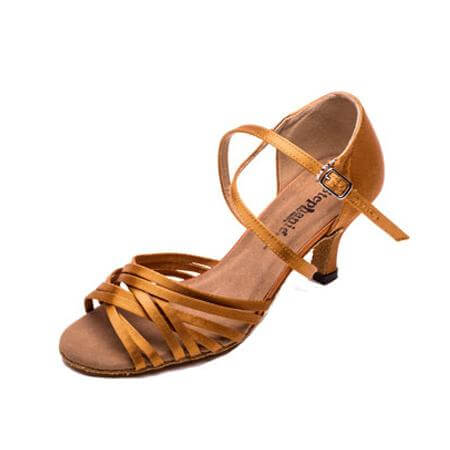 Stephanie Ladies 2.5 inch Heel Latin Series X-Strap Ballroom Shoe
