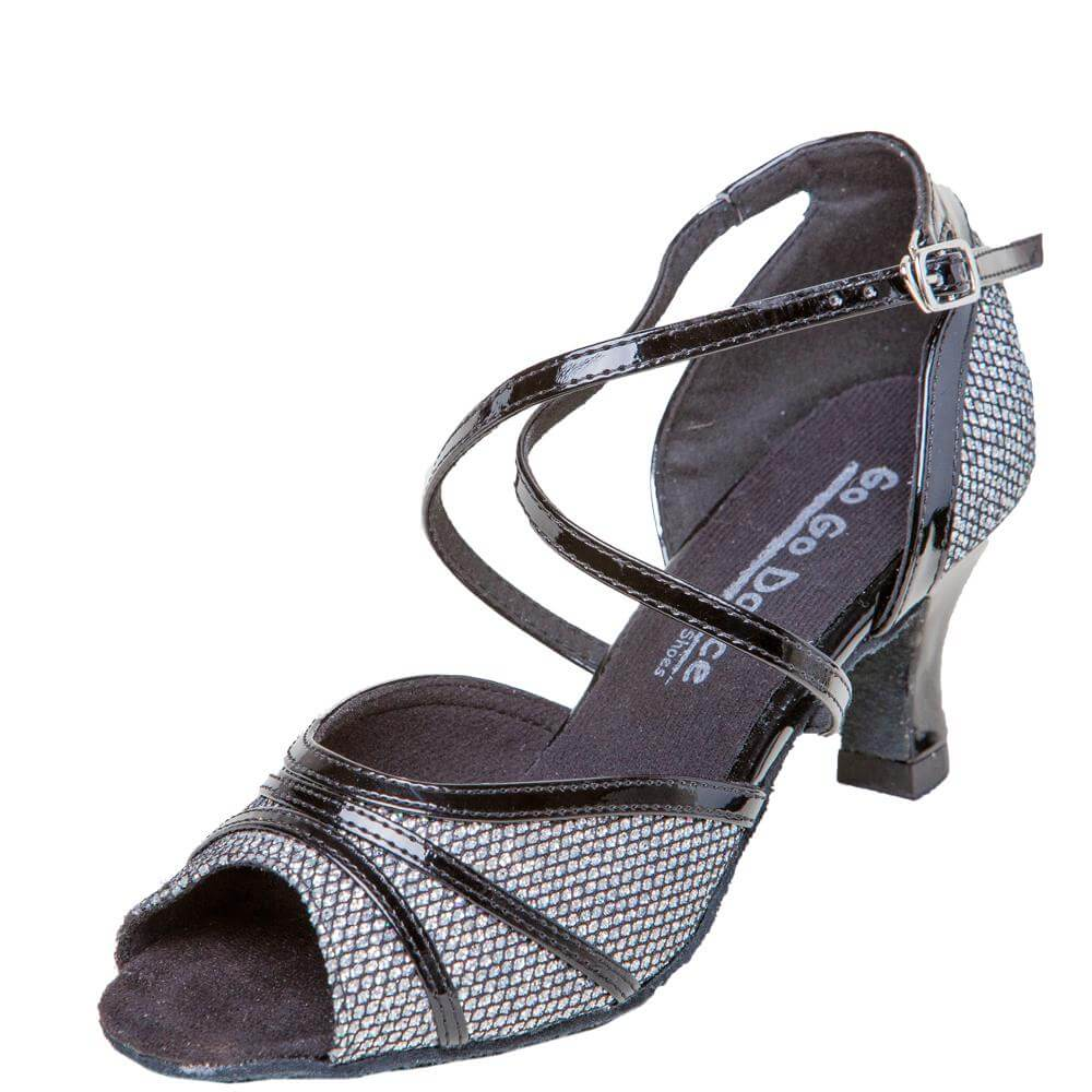 GOGO Ladies 2.5 inch Heel Latin and Ballroom Shoes