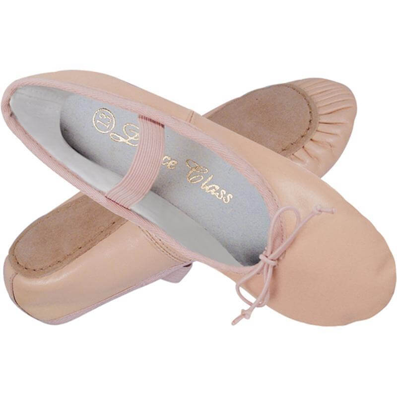 Dance Class Child Full Sole Leather Ballet Shoe