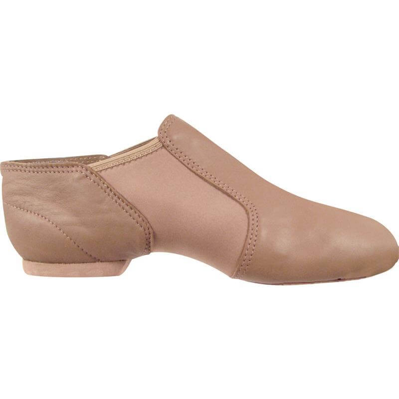 Dance Class Leather And Spandex Gore Jazz Boot - Light Suntan