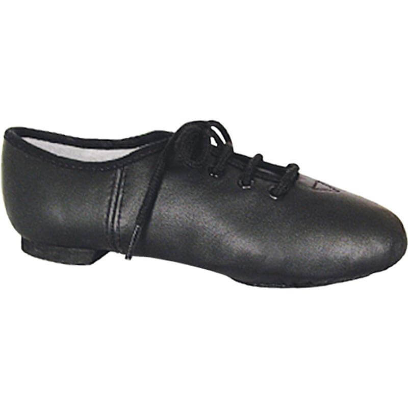 Dance Class Child Black Leather Split Sole Jazz Shoe