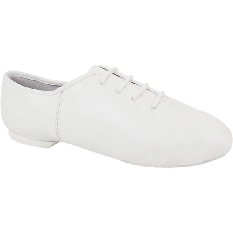 Dance Class Child White Leather Jazz Shoe