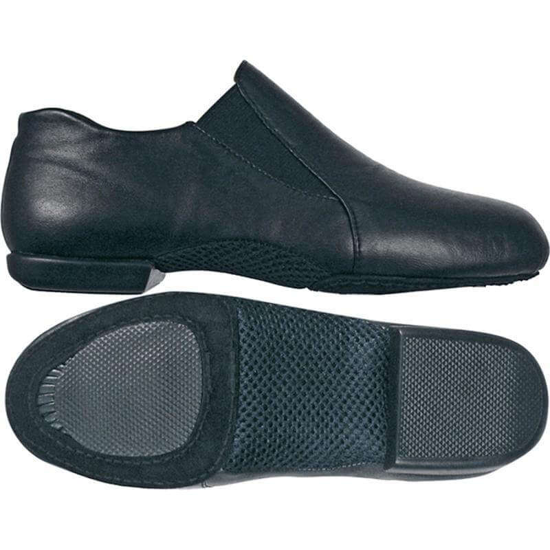 Dance Class Adult Leather Pro Slip On Jazz Boot - Black