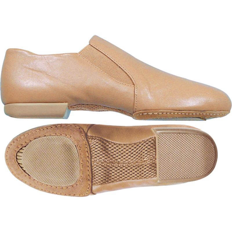 Dance Class Child Leather Pro Slip On Jazz Boots