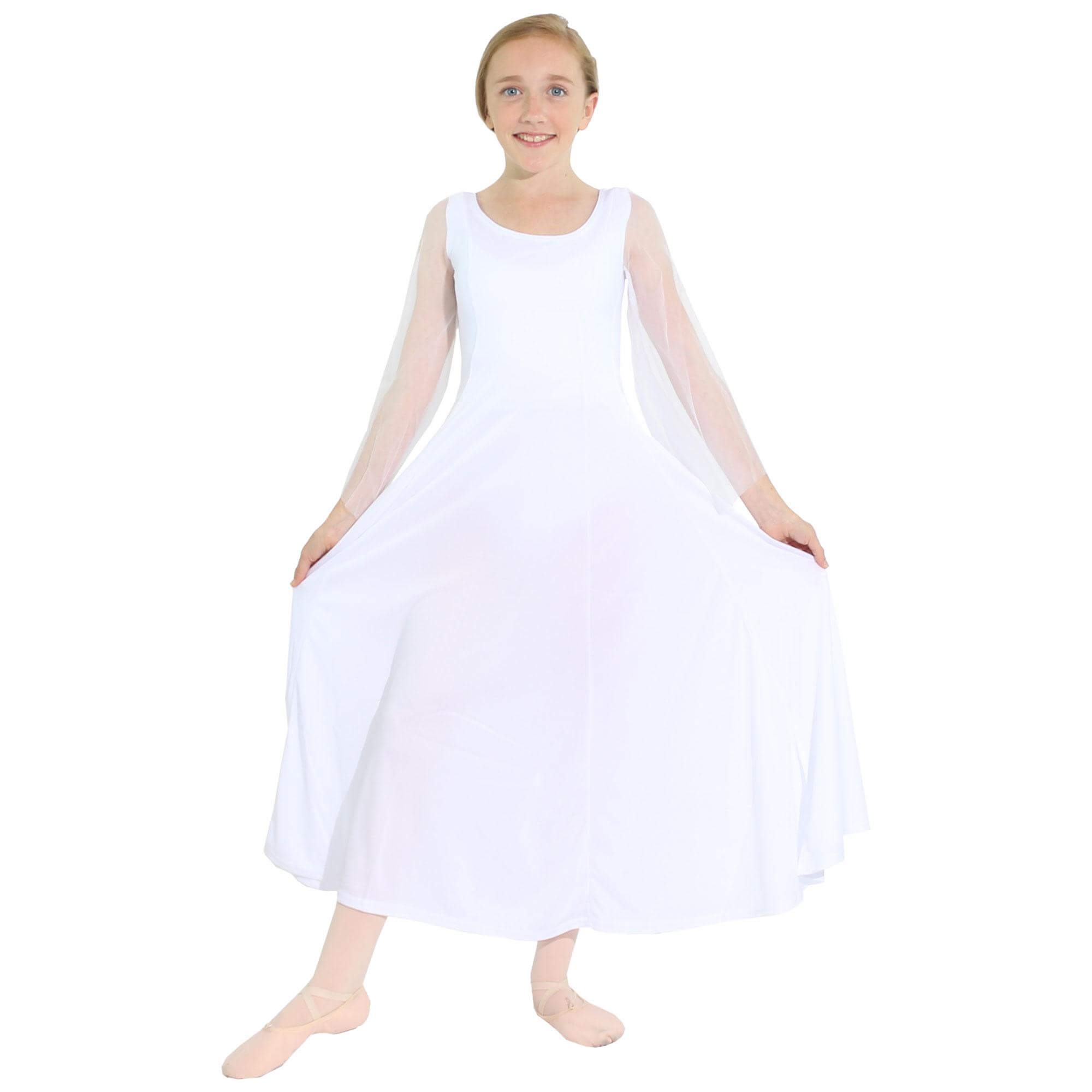 Danzcue Child Princess Angel Sleeve Dress