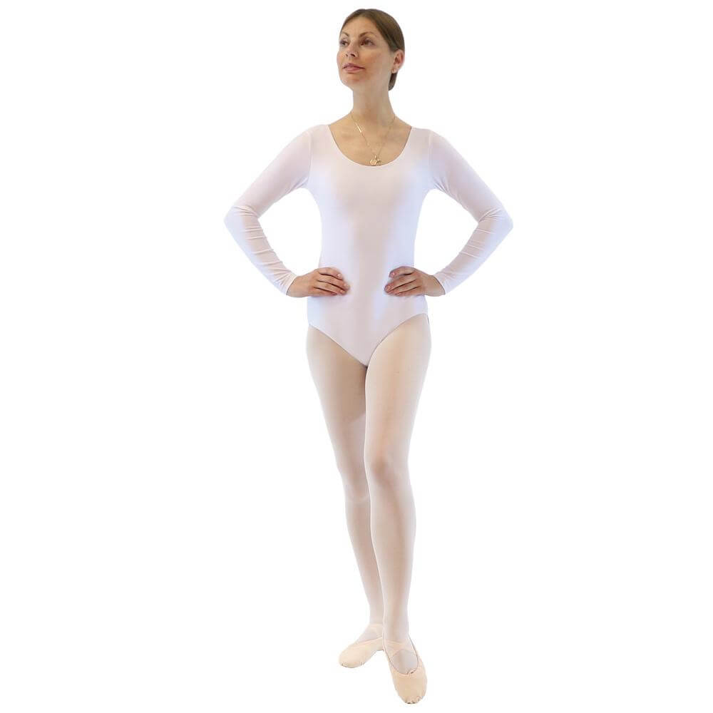 Danzcue Basic Nylon Long Sleeve Adult Leotard