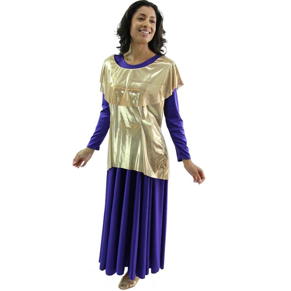 Danzcue Metallic Tunic Pullover