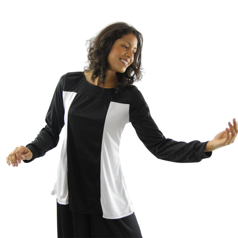 Danzcue Color Block Tunic