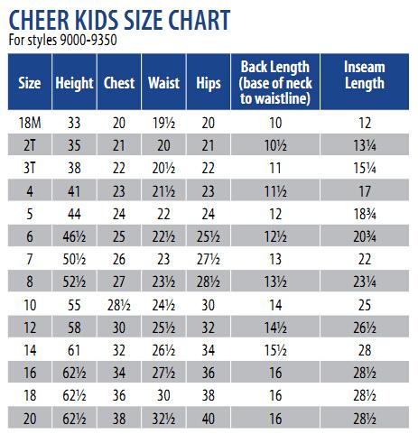 Motionwear Child Cheer Uniform Set Mow9200 22 99