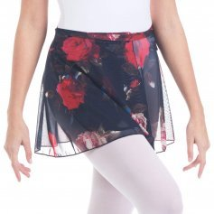 Baiwu Women's Mesh Print Flower Wrap Skirt