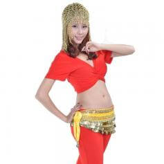 Beaded Belly Dance Head Cap