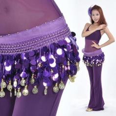 88 Coins Purple Belly Dance Belts