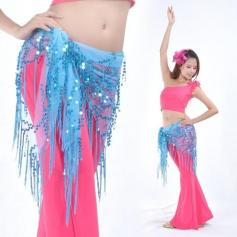 Belly Dance Hip Scarf With Fringe