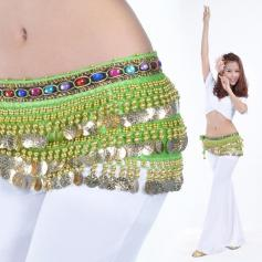 228 Gold Coins Belly Dancing Wraps