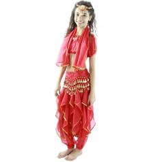 Bollywood Little Lantern 5-Piece Children Belly Dance Costume