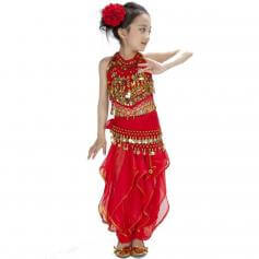 Bollywood Pepper 5-piece Children Belly Dance Costume