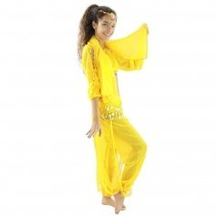 Long Lantern 5-Piece Children Belly Dance Costume
