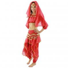 Long Sleeve 5-Piece Children Belly Dance Costume