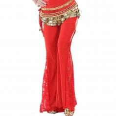 Tribal Style Belly Dance Pants with Lace