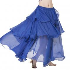Bright Royal Chiffon Spiral Belly Dance Skirt