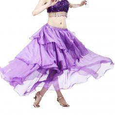 Deep Purple Chiffon Spiral Belly Dance Skirt