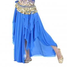 Bright Royal Fashion Glass Silk Belly Dance Ear Skirt