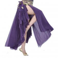 Deep Purple Fashion Glass Silk Belly Dance Ear Skirt