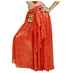 Fashion Gold Printd Belly Dance Ear Skirt