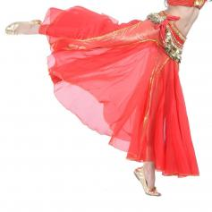 Red Fashion Mermaid Belly Dance Skirt