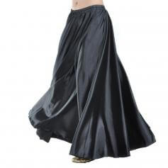Black Fashion Large Satin Skirt Belly Dance Skirt