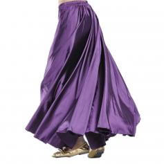 Purple Fashion Large Satin Skirt Belly Dance Skirt