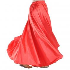 Red Fashion Satin Skirt Praise Dance Skirt Belly Dance Skirt
