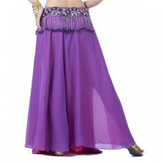Fashion Gradient Colors Two Openings Belly Dance Skirt