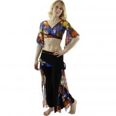 Flowing Floral 2-Piece Belly Dance Costume