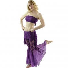 Lace 2-Piece Belly Dance Costume