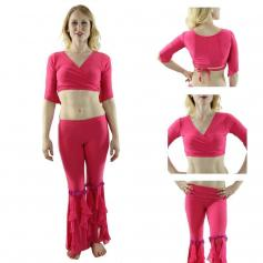 Dynamic 2-Piece Belly Dance Costume(Belt not included)