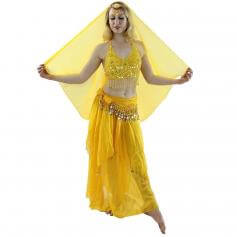 Florals 5-Piece Bra and Muslin Skirt Belly Dance Costume