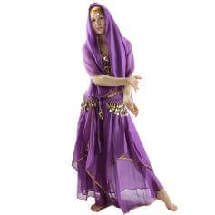 Red Pepper 5-Piece Belly Dance Costume