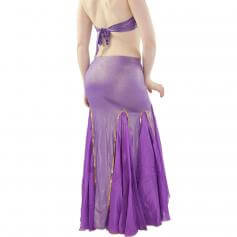Long Fishtail 2-Piece Belly Dance Costume (Belt not included)