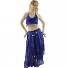 Five Flowers 2-Piece Belly Dance Costume