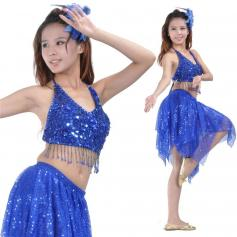 Shimmery 2-Piece Belly Dance Costume