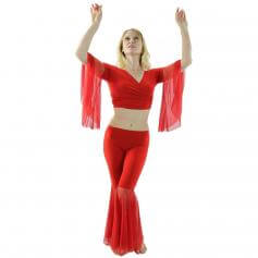 Net Yarn 2-Piece Belly Dance Costume