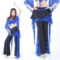 Lace Fabric 2-piece Belly Dance Costume