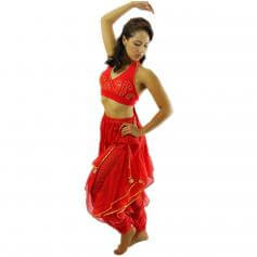 Beaded Vest 2-Piece Belly Dance Costume