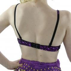 Fashion Six Flowers Belly Dance Bra