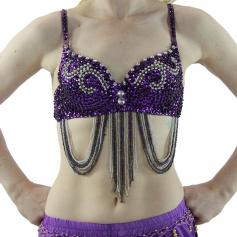 Fashion Bead Chain Belly Dance Bra [BELTP003]