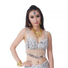 Fashion Chili Sequined Belly Dance Bra